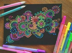 Colors in Black!! #zentangle art