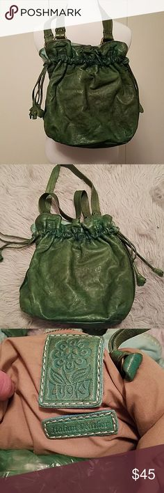 Lucky brand green Italian leather bag Green soft leather great condition Lucky Brand Bags