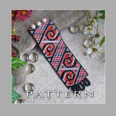 Peyote Beading Pattern : Scroll Works Bracelet Cuff