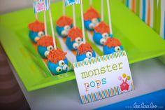 Monster Party Cake Pops #monster #cakepops