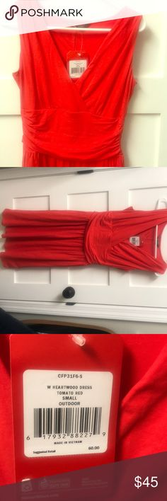 The North Face Heartwood Dress - Tomato Red Brand new with tags. Size small. The North Face Dresses