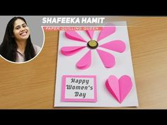 👉How to make:Easy lovely handmade cards for Women's Day mothers day Hello! In the present video I will demonstrate and in the simple way make the greeting ca. Mothers Day Gifts Easy, Mothers Day Crafts, Easy Mother's Day Crafts, Diy Crafts, Diy Mother's Day Projects, Diy For Kids, Crafts For Kids, Women's Day Cards, Happy Woman Day