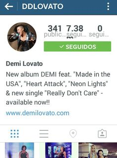 Demi Lovato changed her profile picture on Instagram.