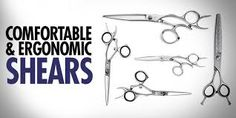 Comfortable And Ergonomic Shears - Best Professional Hair Cutting Shears For Hairdressers Hair Cutting Shears, Professional Hairstyles, Hairdresser, Villa, Education, Blog, Blogging, Onderwijs, Learning