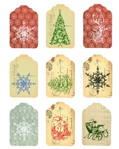 6 Best Images of Vintage Christmas Printable Gift Tags - Free Printable Vintage Christmas Tags, Vintage Christmas Gift Tags Printable and Vintage Christmas Gift Tags Printable Noel Christmas, All Things Christmas, Vintage Christmas, Christmas Ornaments, Xmas, Rustic Christmas, Christmas Tags Printable, Christmas Labels, Printable Tags