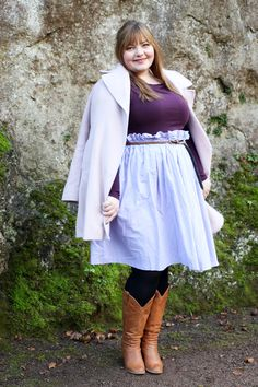 kathastrophal.de | Plus Size Outfit in light pink & purple with a DIY skirt // German Curves
