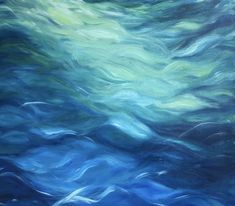 Second stage of this abstract seascape painting Seascape Paintings, Oil Painting Abstract, Landscape Paintings, Oil Paintings, Arte Orca, Ocean Wave Drawing, Water Abstract, Abstract Waves, Underwater Painting