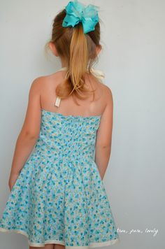 halter dress with circle skirt. Project Run and Play: Flickr Friends: Tara from True Pure Lovely