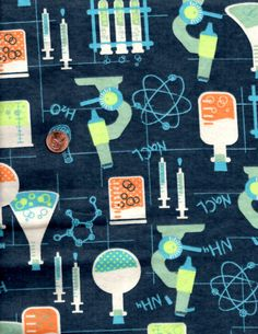 Science Lab Math Chemistry Equation Flannel by julies5150world