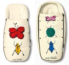 "Footmuffs - Bugaboo - Andy Warhol ""Happy bugs"""