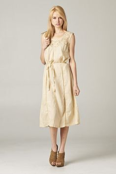 SALE Lanni Dress in Natural Ramie
