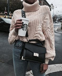 sweater weather just got better🌟 in ivy sweater - tap the image to shop! Fashion Casual, Casual Chic, Love Fashion, Fashion Outfits, Womens Fashion, Fashion Clothes, Fashion Ideas, Fashion 2017, Fashion Trends