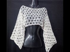 How to Crochet a Little Black Crochet Dress - Crochet Ideas Crochet Shrug Pattern, Crochet Cardigan, Crochet Shawl, Crochet Patterns, Crochet Cover Up, Easy Crochet, Knit Crochet, Crochet Winter, Crochet Videos