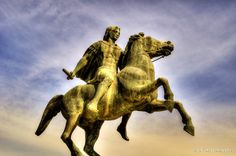 https://flic.kr/p/F1aEKS | Alexander the Great | Alexander the Great, the King of Macedonia in Greece, is considered one of the greatest military geniuses of all times. He was inspiration for later conquerors such as Hannibal the Carthaginian, the Romans Pompey and Caesar, and Napoleon. Alexander born in 356 BC, in Pella the capital of the Kingdom of Macedon in Greece and succeeded his father Philip II, to the throne at the age of twenty.  He spent most of his life on an unprecedented…