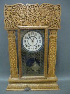 shopgoodwill.com: Vintage E. Ingram Carved Wood Mantle Clock Sold for $67.53