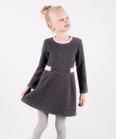 This Graphite Quilted Dress - Toddler & Girls is perfect! #zulilyfinds