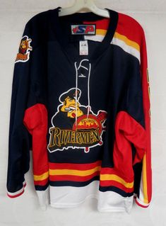 416e63c0a VINTAGE PEORIA RIVERMEN HOCKEY JERSEY MENS SIZE LARGE IHL AHL MINOR LEAGUE  BLUES