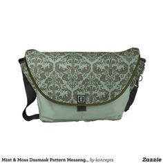 Mint & Moss Dasmask Pattern Messenget Bag Courier Bags