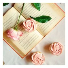 Lychee Rose Cupcakes foodgawker ❤ liked on Polyvore featuring backgrounds, pictures, photos, art and books