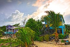 Beach in Front of Colinda's Cabanas by Lee Vanderwalker Caye Caulker Belize, Beach Cabana, Little Island, Sit Back And Relax, Central America, Islands, Caribbean, Mexico, Wall Art