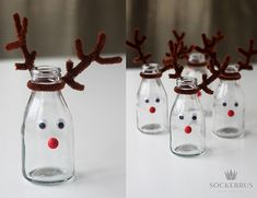 julpyssel dukning flaska Christmas Crafts, Christmas Decorations, Xmas, Holidays And Events, Kids Room, Crafts For Kids, Projects To Try, Table Settings, Merry