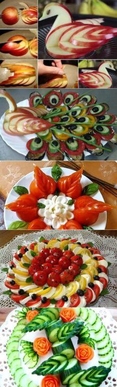 Овощная нарезка для праздничного стола | Кулинарные украшения | Постила