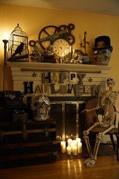 DIY Steampunk Halloween Decorations