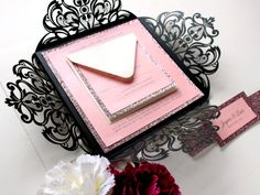 25 x Glam and luxurious wedding invitation cards in black and pink, featuring intricate floral paper cut lace details. The insert card and glitter can be changed to other colours. Please refer to the colour chart (last photo).  ♥ Order a Sample (Not Personalised) You can order a sample on this listing by choosing SAMPLE under Number of Invites menu during check out. Please use coupon code PBLSAMPLE to receive free shipping for your sample order only.  ♥ For More Laser Cut Invitation Designs…