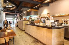 Reuben Hills is one of the most popular coffee brands in Australia and their coffee cafe and roastery is located in Surry Hills. Cafe Design, House Design, Coffee Cafe, Coffee Shops, Tapas, Sydney Cafe, Surry Hills, Fluorescent Lamp, Cafe Shop