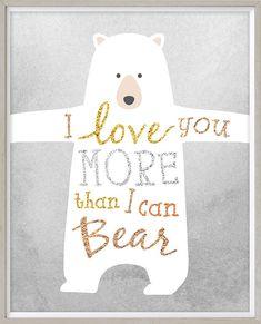 Bear Nursery Wall Art Instant Download 8x10 by LlamaCreation