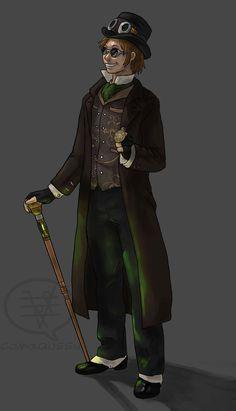 Steampunk Guy by *comixqueen on deviantART