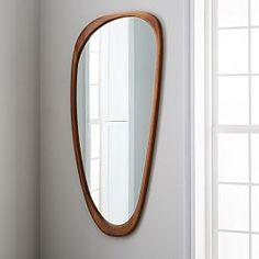 Midcentury Modern Mirrors That Will Make Your Space Look Bigger Stat - West Elm Mid-Century Asymmetrical Floor Mirror West Elm Mid-Century Asymmetrical Floor Mirror West - Reforma Exterior, Mid Century Modern Mirror, Modern Mirrors, West Elm Mid Century, Mid-century Modern, Modern Houses, Spiegel Design, Style Minimaliste, Decor Inspiration