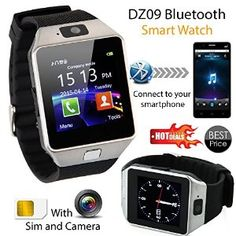 ONLY £17.21 !!!! Gadget Port Original DZ09Smart Bluetooth 3.0 Waterproof Smart Watch Smart Wrist Watch Phone Camera TF Card Wristwatch for IOS iphone Android Samsung HTC etc in Black Colour Gadgets For Dad, Cool Tech Gadgets, Watch Mobile Phone, Mobile Phones, Jewelry Accessories, Cell Phone Accessories, Wearable Technology, Apple Watch, Sims