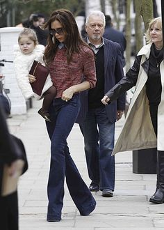 Daily Outfit Idea: Victoria Beckham Demonstrates How to Wear Bell-Bottoms Without Looking Like a Hippie