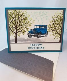 Lot of 6 Antique Car Birthday cards made w/Stampin' Up! w/matching envelopes #Handmade #AnyOccasion