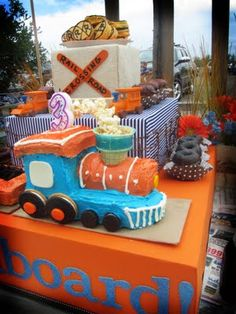 Vintage Train Themed party!