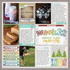 a scrapbook page for every week of a year....hmmm. could I keep up with it?