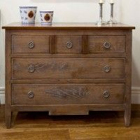 Gustavian Oak Chest of 3 Drawers