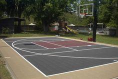 Backyard Basketball Court No Concrete . Backyard Basketball Court No Concrete . Basketball Court Layout, Outdoor Basketball Court, Basketball Goals, Bocce Ball Court, Badminton Court, Backyard Sports, Backyard For Kids, Backyard Ideas, Concrete Backyard
