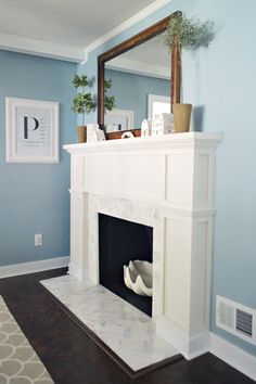 Our $200 Fireplace Makeover (marble Tile & A New Mantel)