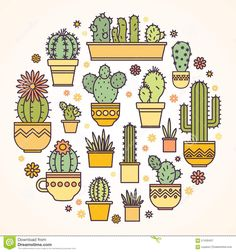 Linear Design, Potted Cactus. Elements Of A Corporate Logo - Download From Over 56 Million High Quality Stock Photos, Images, Vectors. Sign up for FREE today. Image: 57430437