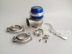 49.98$  Buy now - http://aliuni.worldwells.pw/go.php?t=32647633773 - Wastegate 40mm 7psi external Wastegate turbo blue adjustable pressure with Clamp 49.98$