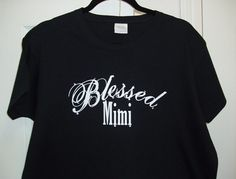 Blessed Mimi Ladies T-Shirt with Rhinestone Embellishment  FREE SHIPPING. $18.00, via Etsy.