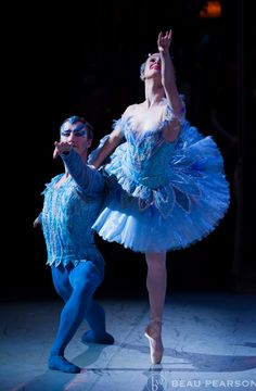Arolyn Williams and Christopher Sellars in the Bluebird pas de deux from Ballet West's Sleeping Beauty. Photo by Beau Pearson