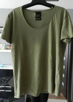 Kup mój przedmiot na #vintedpl http://www.vinted.pl/damska-odziez/koszulki-z-krotkim-rekawem-t-shirty/14380906-zara-klasyczny-t-shirt-khaki-s