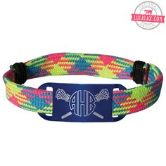 Personalized Lacrosse Shooting String Bracelet Monogrammed Crossed Lacrosse Stick Adjustable Shooter Bracelet