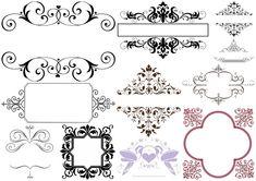 Ornamentos para Nombres de Bodas.