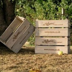 TWTT- Set of 3 Traditional Fruit Crates.  Perfect for adding rustic charm. Also very useful afterward to store or display in or around the home.