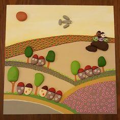 30x30 cm. #tasboyama #tasboyamasanati #paint #paintingrocks #stoneart #stonepainting #art #handmade #gift #creative #nature #homedecor #elyapimi #kisiyeozelhediye #evdekorasyonu #duvarsusu #landscape #manzara #köy #satilik #siparisalinir