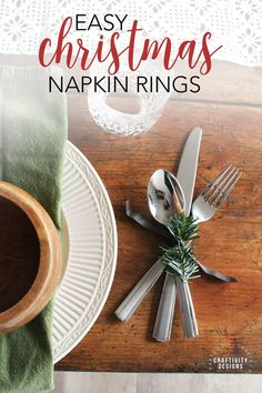 Learn how to make easy Christmas napkin rings for the holiday dinner table. These elegant DIY napkin rings are made with leather and evergreens for a rustic tablescape. Craft Projects For Adults, Diy Crafts For Adults, Cool Diy Projects, Crafts To Make, Fun Crafts, Amazing Crafts, Christmas Napkin Rings, Christmas Napkins, Christmas Crafts